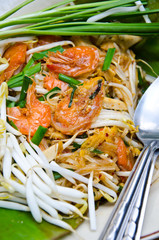 delicious Thai food Pad thai , Stir fry noodles with shrimp