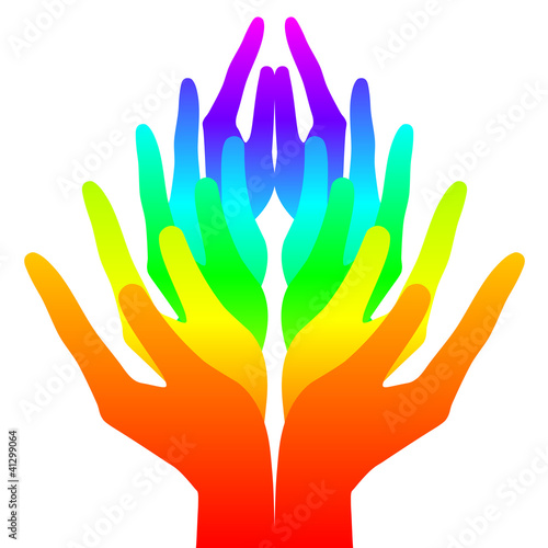 Spirituality, peace and love - colorful icon