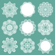 Set of Lace Napkins - for design and scrapbook - in vector