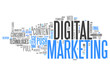"Word Cloud ""Digital Marketing"""