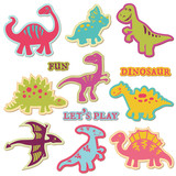 Scrapbook Design Elements - Сute Dinosaur Set - in vector