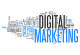 "Word Cloud ""Digital Marketing"""