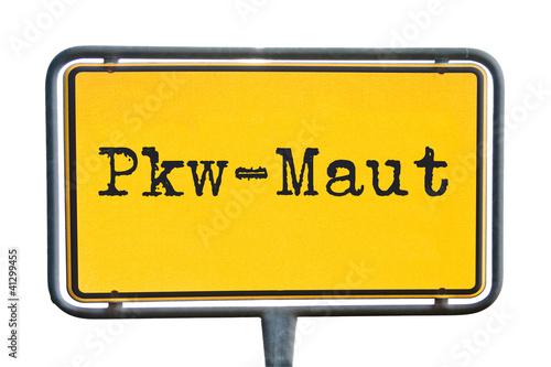 Straßenschild Pkw-Maut
