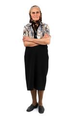 Senior woman full length portrait