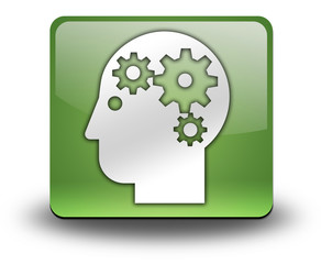 "Green 3D Effect Icon ""Mental Health"""