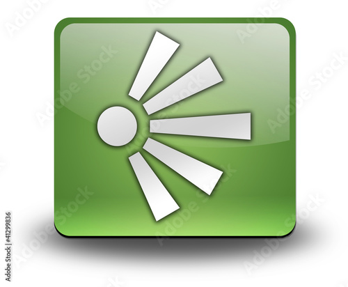 "Green 3D Effect Icon ""Scenic Viewpoint"""