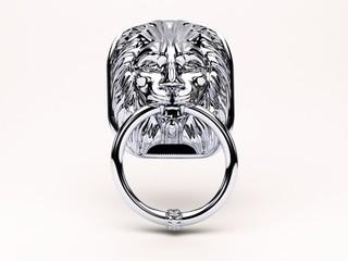 battente, ingresso, leone, testa leonina, bussare