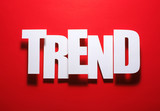 Red is always in trend poster