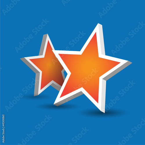 Two stars on blue background