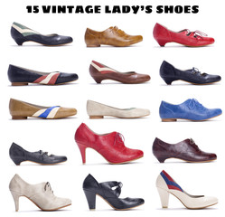 15 beautiful vintage lady's shoes