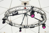 Stage lights on a support ring structure poster