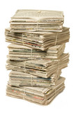 Stack of newspapers for recycling