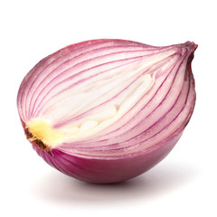 Red sliced onion half