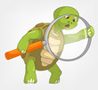Funny Turtle. Finding.