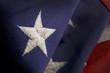 Closeup of a star on an America Flag