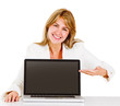 Businesswoman into online business
