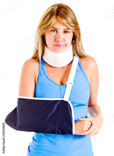 Injured woman