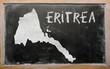 outline map of eritrea on blackboard