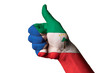 equatorial guinea national flag thumb up gesture for excellence