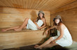 Two girls in   sauna
