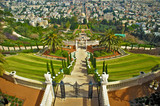 Bahai gardens in Haifa north Israel