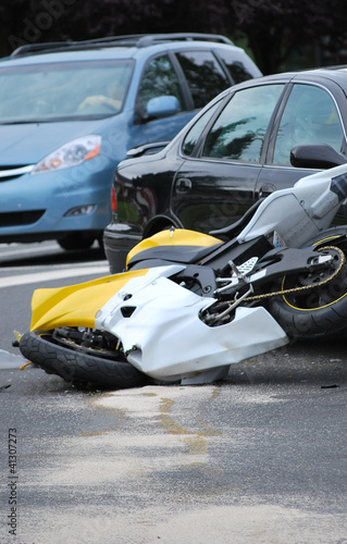 Motorcycle accident.
