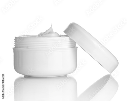 Leinwanddruck Bild beauty cream container hygiene health care
