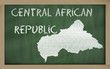 outline map of central african republic on blackboard