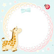 Vector background with cute giraffe
