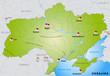 Internetkarte der Ukraine mit Nachbarländern
