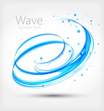 Abstract wave. Vector