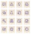 Organizer web icons on paper.
