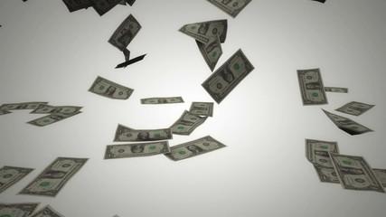 Dollar bills rain 04