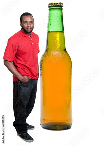 Black Man with a Cold Beer