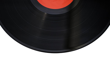 old vintage vinil with white background