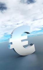 Das große Eurozeichen Silber Blau