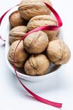 Walnuts and ribbon