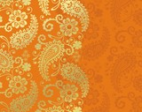 Fototapety paisley floral pattern, textile , Rajasthan, royal India