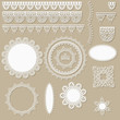 vector lacy scrapbook design elements