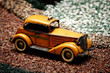 Antique taxi miniature