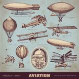 Fototapety vector set: aviation