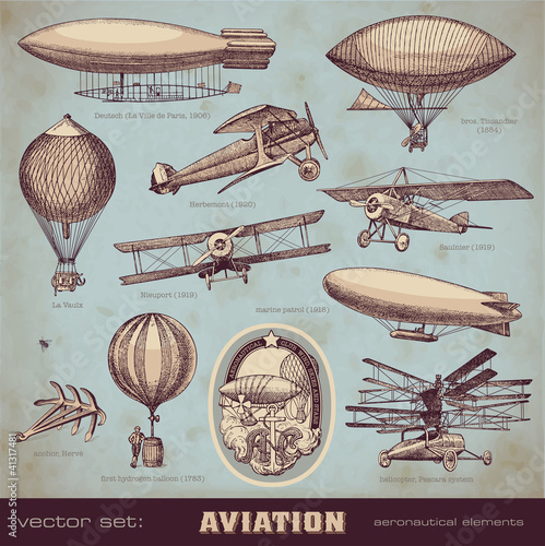 vector set: aviation - 41317481