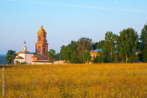 Church Behind a Field