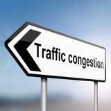 Traffic congestion concept. poster