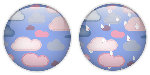 Cloud Computing Cute Icon Button