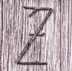 Latin capital alphabet letter Z