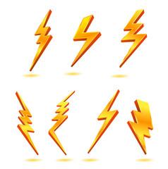yıldırım altın şimşek güç elektrik