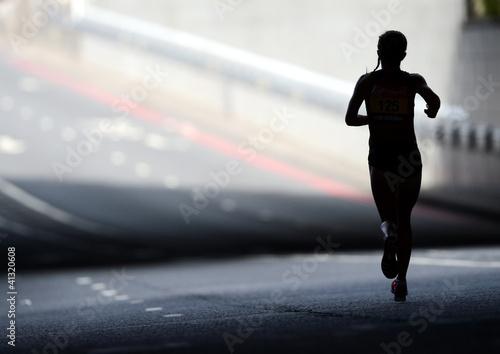 Marathon Runner Silhouette