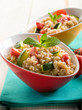 barley risotto with zucchinis and fresh tomatoes