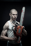 Maniac with chainsaw